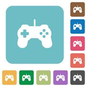 Flat game controller icons Stock Illustration
