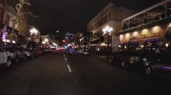 POV Driving In Downtown San Diego California At Night Stock Footage