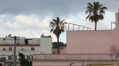 Spain Roofs in Lloret de Mar Stock Footage