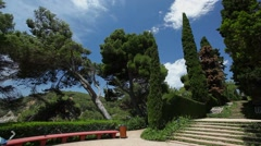 Santa Clotilde gardens in Lloret de Mar Stock Footage