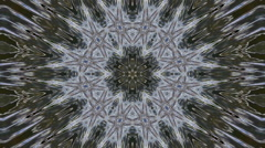 Wonderful abstract kaleidoscopic crystal pattern with six star structure Stock Footage