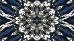 Wonderful abstract kaleidoscopic snowflake pattern with six structure. Stock Footage