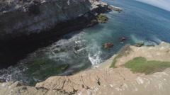 Pacific Ocean Waves Washing Ashore In Cove- La Jolla CA Stock Footage