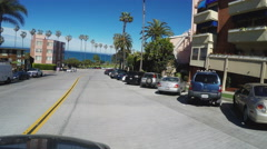 POV Driving Looking For Parking- La Jolla Beach California Stock Footage