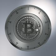Concept Of Bitcoin Like A Security Lock Stock Illustration