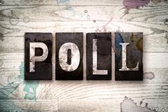 Poll Concept Metal Letterpress Type Stock Illustration