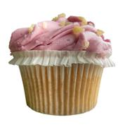 Pink Frosted Cupcake Stock Photos