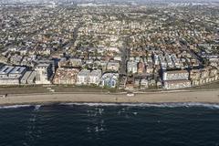 Aerial View of the Redondo Beach Shoreline in Southern California Stock Photos