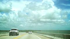 Miami to Key West roadtrip Stock Footage