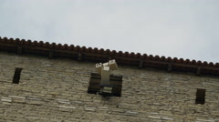 A security camera on the window of the castle Stock Footage
