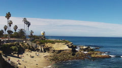 Swimming Cove At La Jolla California Beach Tilt Stock Footage