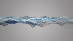 Fantastic animation with particle wave object in slow motion, 4096x2304 loop 4K Stock Footage