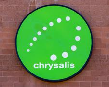 Chrysalis Exterior Sign and Logo Stock Photos