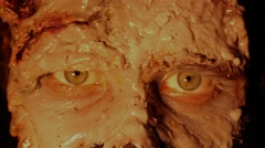 Scary zombie monster looking at the camera Stock Footage