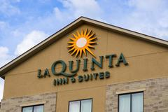 La Quinta Inn and Suites Exterior and Logo Stock Photos