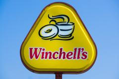 Winchell's Donut Sign and Logo Stock Photos