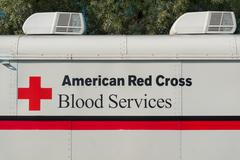 American Red Cross Blood Services Vehicle and Logo Kuvituskuvat
