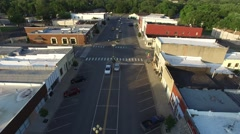 Mulvane Downtown Flyover Stock Footage
