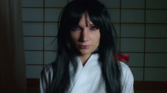 4k Anime Shot of a Japanese Woman Geisha Stock Footage