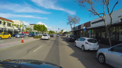 Viewpoint Driving In Mission Hills District- San Diego California Stock Footage