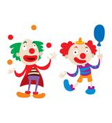 Clown character vector cartoon illustrations Stock Illustration