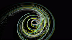 Fantastic animation with particle stripe object in motion, 4096x2304 loop 4K Stock Footage