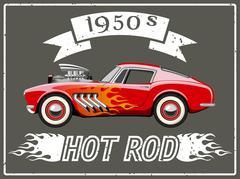 Hot rod car Stock Illustration