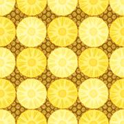 Seamless pattern with pineapple. Stock Illustration