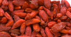 Dried Goji Berries Stock Footage