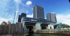 Passenger's POV Staten Island Ferry Docking at Manhattan Port   Stock Footage