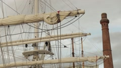 Ship Sail In Liverpool , Albert Dock Stock Footage