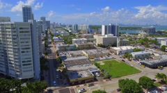 Aerial videoMidbeach Miami neighborhood Stock Footage