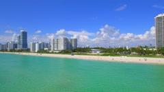 Aerial Miami Beach 70th Street Stock Footage