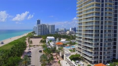 Ocean Terrace Miami Beach Stock Footage