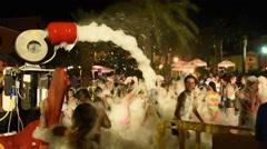 RIO MARINA - LEGHORN - TUSCANY - ITALY - AUGUST 2016 - Foam party Stock Footage