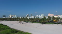 Panoramic tracking aerials footage of South Beach Stock Footage