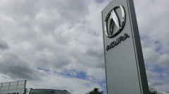 Acura automobile dealership in Coquitlam BC Canada with 4k resolution. Stock Footage