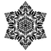Oriental Abstract Pattern Stock Illustration