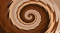 Rotating brown spiral seamless loop Stock Footage