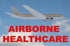 Airborne Healthcare concept Stock Illustration