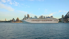 Cruise ship in Sydney, Australia Stock Footage