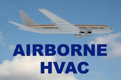 Airborne HVAC concept Stock Illustration