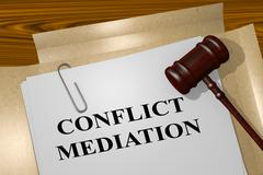 Conflict Mediation concept Stock Illustration