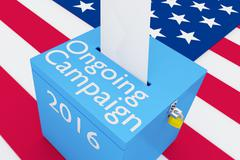 Ongoing Campaign 2016 concept Stock Illustration