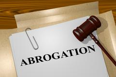 Abrogation - legal concept Stock Illustration