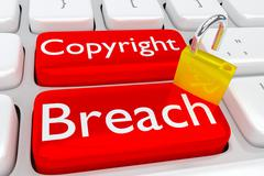 Copyright Breach concept Stock Illustration