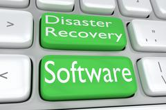 Disaster Recovery Software concept Stock Illustration