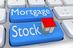 Mortgage Stock concept Stock Illustration