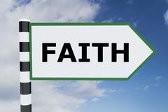 Faith - spiritual concept Stock Illustration