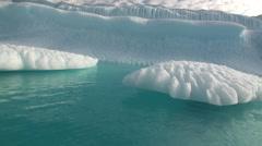 Big Iicebergs floating in sea around Greenland. Stock Footage